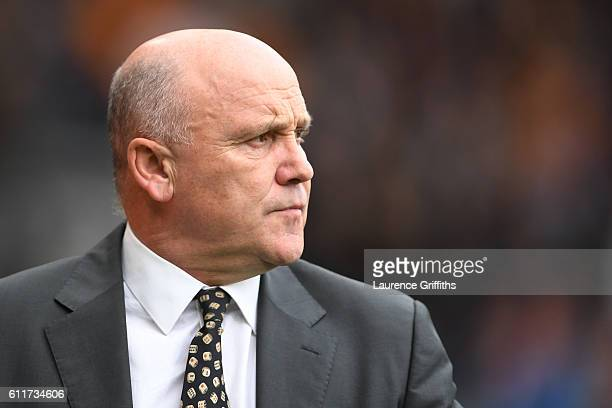 Mike Phelan caretaker Manager of Hull City looks on during the Premier League match between Hull City and Chelsea at KCOM Stadium on October 1 2016...