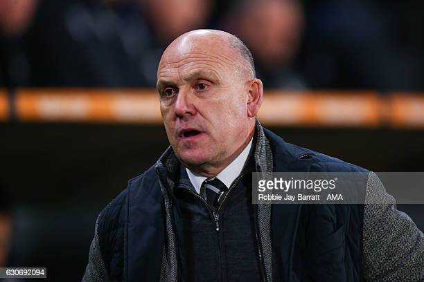 Mike Phelan head coach / manager of Hull City during the Premier League match between Hull City and Everton at KC Stadium on December 30 2016 in Hull...