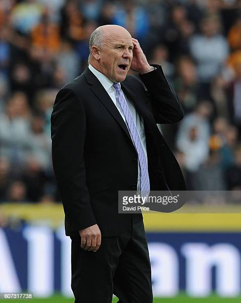 Mike Phelan the Hull City Manager during the Premier League match between Hull City and Arsenal at KCOM Stadium on September 17 2016 in Hull England