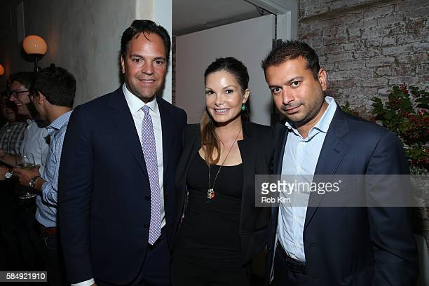 Mike Piazza Alicia Rickter and Kamal Hotchandani attend 'Haute Living Honors Mike Piazza' dinner event presented by Johnnie Walker Blue Label and...