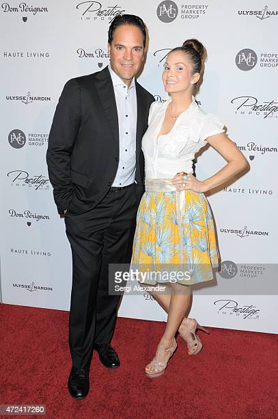 Mike Piazza and Alicia Piazza attend Haute Living Haute 100 Dinner presented by Dom Perignon at Tamarina at Brickell World Plaza on May 6 2015 in...