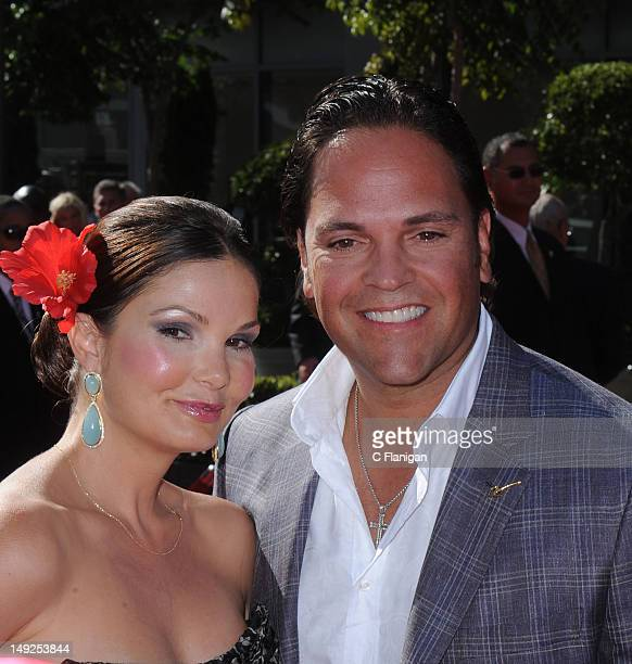 Mike Piazza and Alicia Rickter arrive at the 2012 ESPY Awards at Nokia Theatre LA Live on July 11 2012 in Los Angeles California
