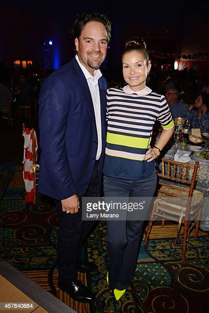 Mike Piazza and Alicia Rickter attend The 14th Annual Footys Bubbles And Bones Gala at Westin Diplomat on October 24 2014 in Hollywood Florida