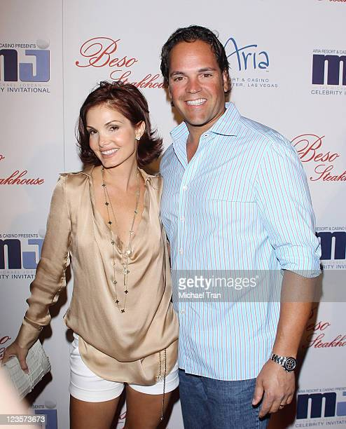 Mike Piazza and his wife Alicia Rickter arrive at the 10th Annual Michael Jordan Celebrity Invitational dinner held at Beso and Eve Crystals on March...