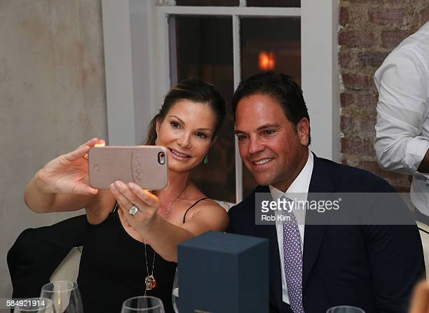 Mike Piazza and wife Alicia Rickter attend 'Haute Living Honors Mike Piazza' dinner event presented by Johnnie Walker Blue Label and JetSmarter at...