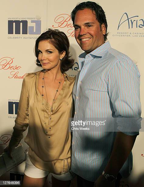 Mike Piazza and wife Alicia Rickter Piazza attends the 10th Annual Michael Jordan Celebrity Invitational Celebrity Dinner in BESO At Crystals at...