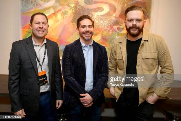 Mike Pollack Brian Tolleson and Allan Holmes attend the 'The Future of Brand Storytelling' panel during SCAD aTVfest 2019 on February 08 2019 in...