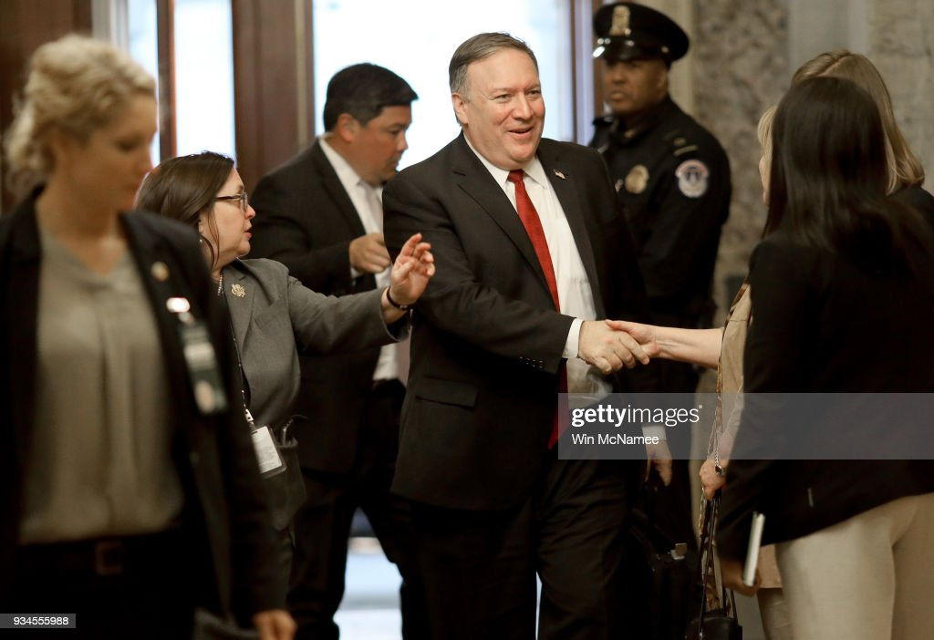 Secretary Of State Nominee Pompeo Meets With Sen. Bob Corker At Capitol