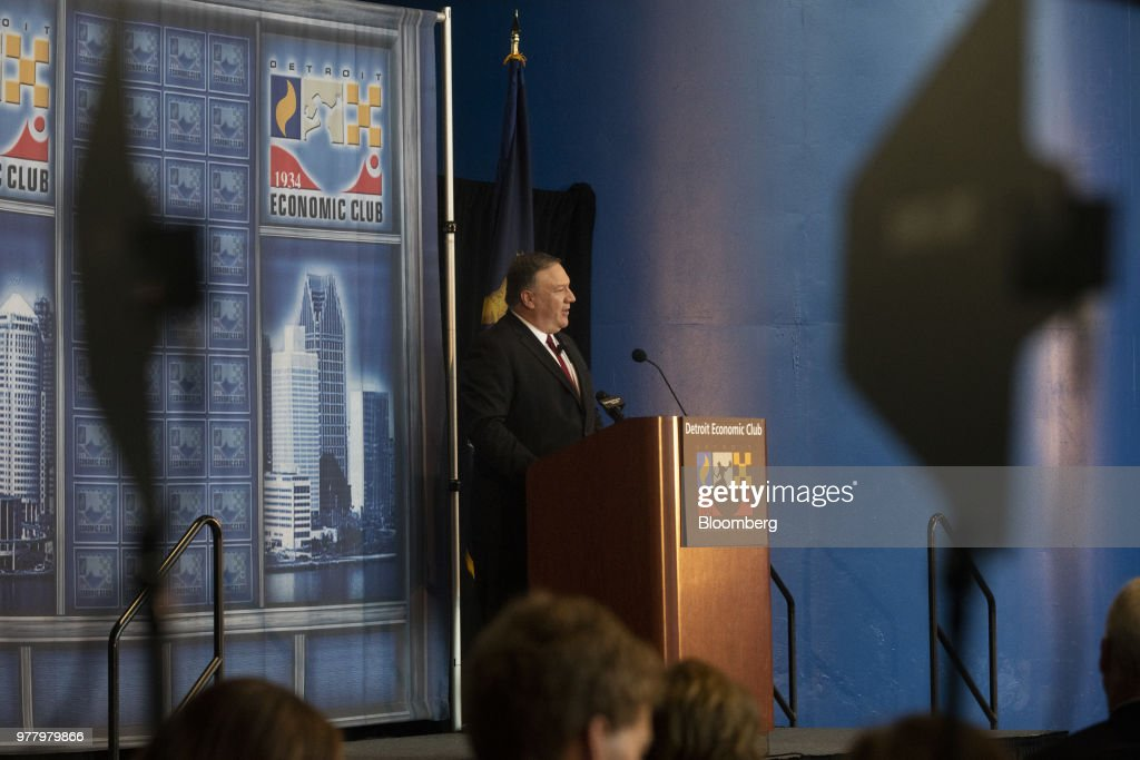 Secretary Of State Mike Pompeo Speaks At The Economic Club Of Detroit