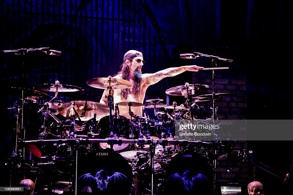 Mike Portnoy Of Avenged Sevenfold Performs On Stage At Hammersmith Apollo October 30 2010