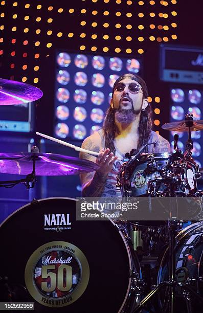 Mike Portnoy of Flying Colors performs on stage during the Marshall 50 Years Of Loud concert celebrating Marshall Amp's 50th Anniversary at Wembley...