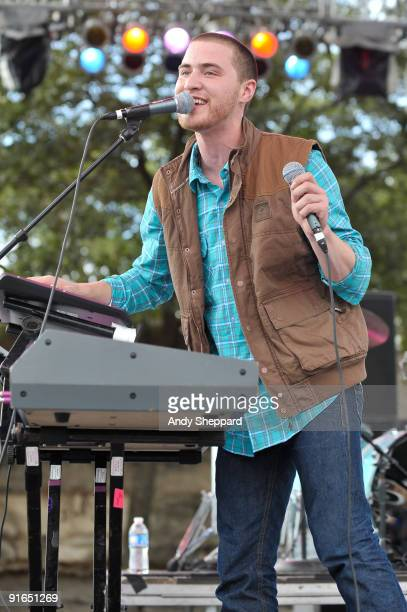 Mike Posner performs on stage on Day 3 of Austin City Limits Festival 2009 at Zilker Park on October 4, 2009 in Austin, Texas. U.S.A
