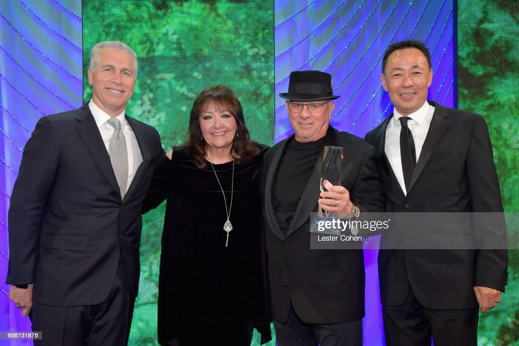Mike Post Accepts Award From Bmi Vice President Creative Film Tv