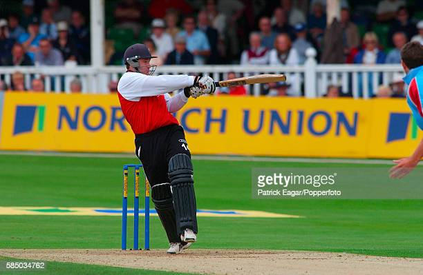 Mike Powell of Glamorgan batting during his 74 in the Norwich Union League Division One match between Kent Spitfires and Glamorgan Dragons at St...