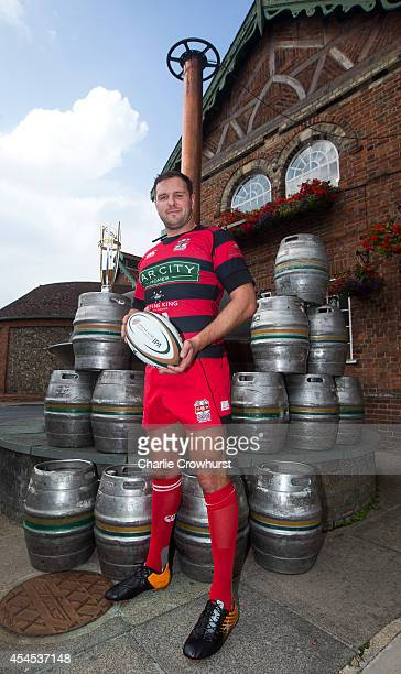 Mike Powell of Moseley poses for a photo during the 2014/15 Greene King IPA Championship Captains photocall at Greene King IPA brewery on September...
