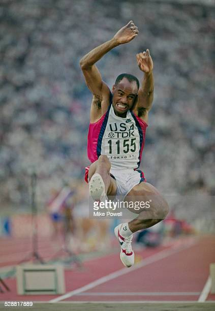 Mike Powell of the United State during the Long Jump event at the IAAF World Athletic Championships on 30th August 1991 at the Olympic Stadium in...