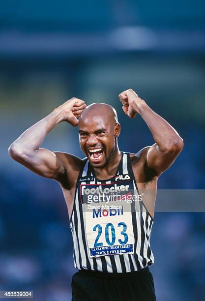 Mike Powell the USA competes in the Men's Long Jump event of the 1996 USA Olympic Trials for Track and Field held on June 19 1996 in Atlanta Georgia