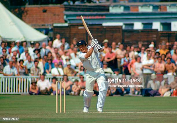 Mike Procter batting during his 101 for Gloucestershire in the Gillette Cup Semi Final between Worcestershire and Gloucestershire at New Road...