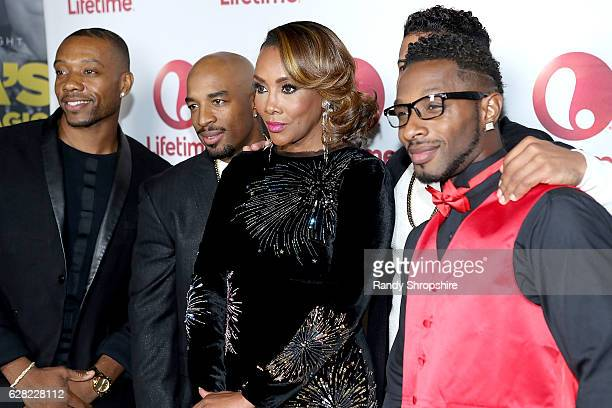 Mike 'Profit the Problem' Strong Andrew 'Penetration' Williams Vivica A Fox and Christian 'SloMotion' Dennis arrive to the live show and holiday...