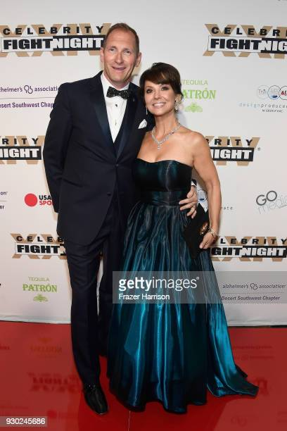 Mike Ravenhill and Cassandra Ravenhill attend Celebrity Fight Night XXIV on March 10 2018 in Phoenix Arizona