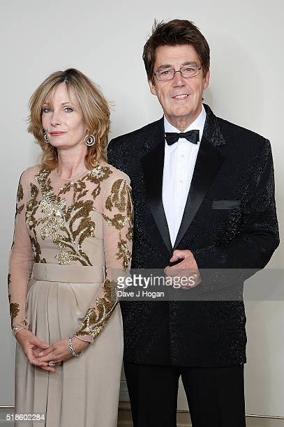 Mike Read and a guest attend The Shooting Star Chase Ball at The Dorchester on October 3 2015 in London England
