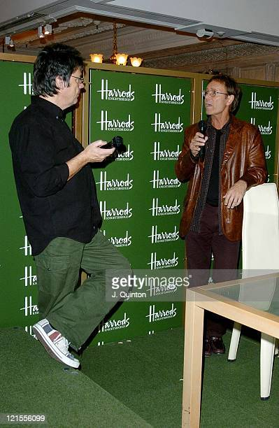 Mike Read and Cliff Richard during Cliff Richard Signs Copies of his New DVD 'Cliff Richard Live' at Harrods in London Great Britain