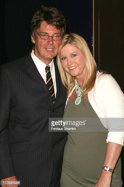 Mike Read and wife during 'Hell's Kitchen II' Day 15 Arrivals at Brick Lane in London Great Britain