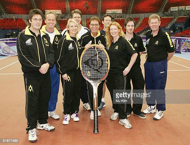 Mike Read Lohn Lloyd Ingrid Tarrant Andrew Castle Cliff RIchard Charlie Dimmock Jeremy Bates Alistair Griffin and Mark Cox MBE pose at a photocall...