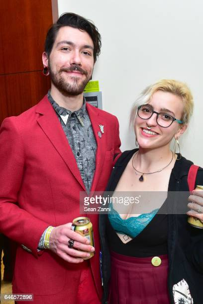Mike Reda and Alexandria Deters attend Spring Break Art Fair 2017 Vernissage at 4 Times Square on February 28 2017 in New York City