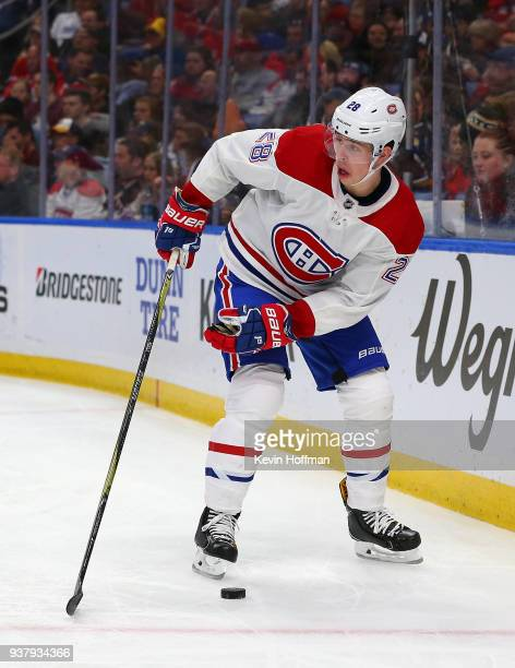 Mike Reilly of the Montreal Canadiens during the game against the Buffalo Sabres at KeyBank Center on March 23 2018 in Buffalo New York Mike Reilly