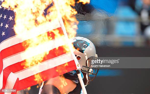 Mike Remmers of the Carolina Panthers takes the field before their game against the Kansas City Chiefs at Bank of America Stadium on November 13 2016...