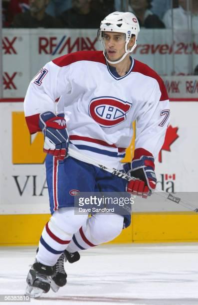 Mike Ribeiro of the Montreal Canadiens skates against the Ottawa Senators during the NHL game at the Corel Centre November 29 2005 in Kanata Ontario...
