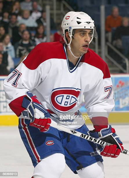 Mike Ribeiro of the Montreal Canadiens skates during the game against the Buffalo Sabres on November 25 2005 at HSBC Arena in Buffalo New York The...