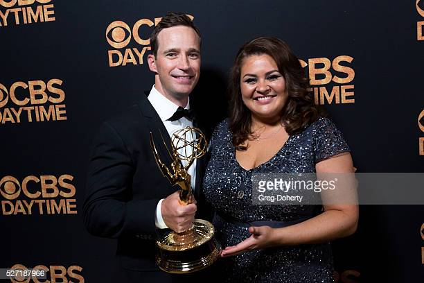 Mike Richard Executive Producer of The Price is Right and Angelica McDaniel Head of CBS Daytime arrive at the CBS Daytime Emmy After Party at the...