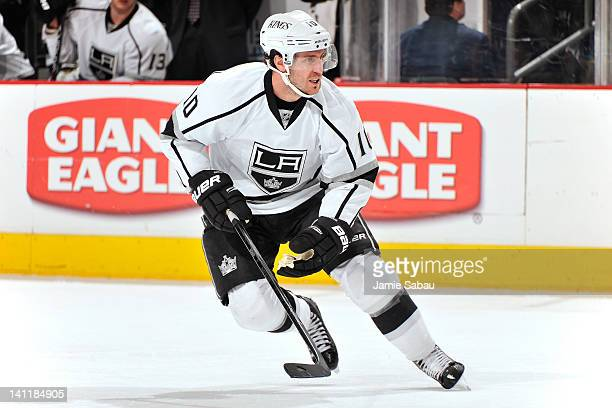 Mike Richards of the Los Angeles Kings skates against the Columbus Blue Jackets on March 8 2012 at Nationwide Arena in Columbus Ohio