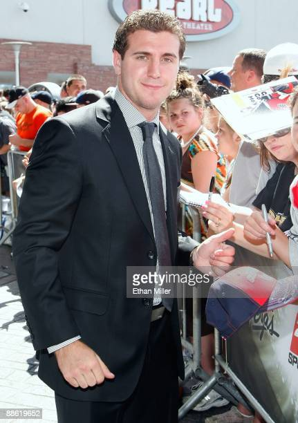 Mike Richards of the Philadelphia Flyers arrives at the 2009 NHL Awards at the Palms Casino Resort on June 18 2009 in Las Vegas Nevada