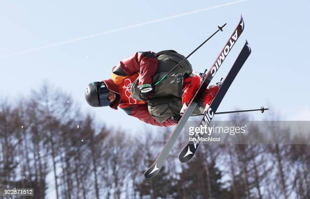 Mike Riddle of Canada competes in the Men's Ski Halfpipe final on day thirteen at Phoenix Snow Park on February 22 2018 in Pyeongchanggun South Korea