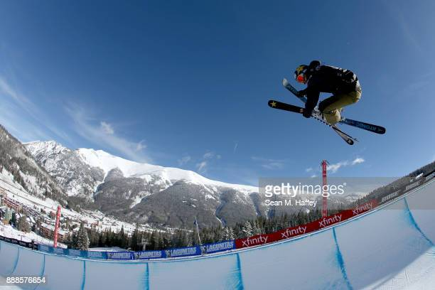 Mike Riddle of Canada competes the finals of the FIS Freeski World Cup 2018 Men's Halfpipe during the Toyota US Grand Prix on December 8 2017 in...
