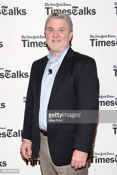 Mike Rinder attends TimesTalks Presents An Evening With Going Clear Scientology and the Prison of Belief at The Times Center on March 2 2015 in New...