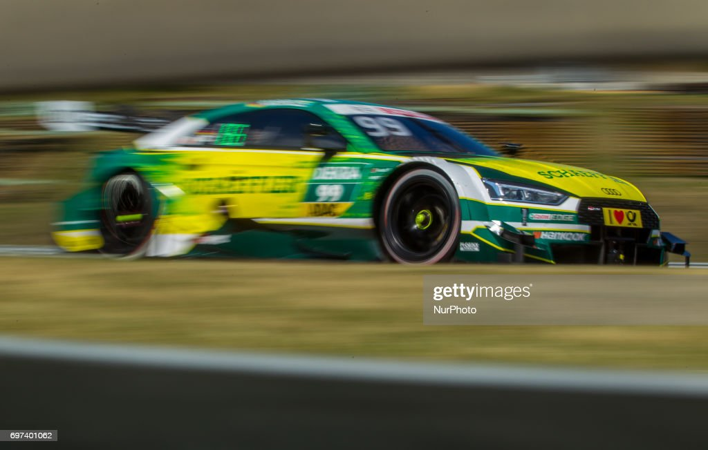 Mike Rockenfeller of Deutchalnd and Audi Sport Team Phoenix racing driver during the Hungarian DTM race on June 18, 2017 in Mogyoród, Hungary.
