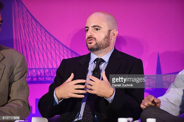 Mike Romoff speaks onstage at the The Rise of the Omnichannel Programmatic Platform on the ADARA Stage at Times Center Hall during 2016 Advertising...