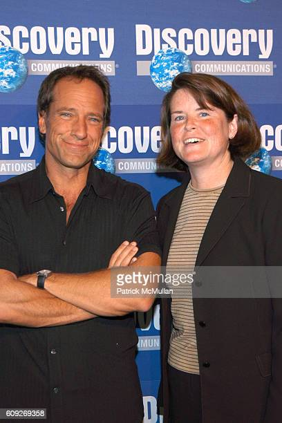 Mike Rowe and Eileen O'Neill attend SHARK WEEK 20th ANNIVERSARY CELEBRATION at Pier Sixty at Chelsea Piers on July 18 2007 in New York City