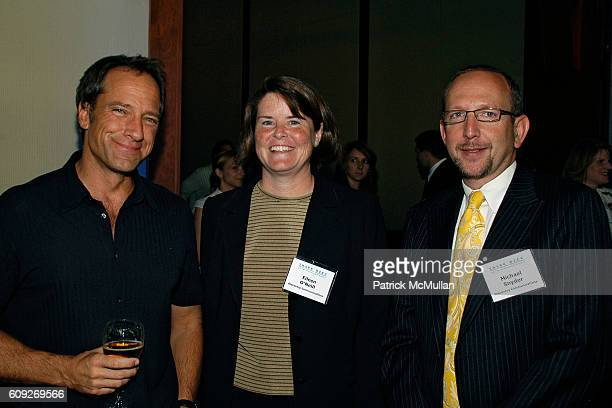 Mike Rowe Eileen O'Neill and Michael Snyder attend SHARK WEEK 20th ANNIVERSARY CELEBRATION at Pier Sixty at Chelsea Piers on July 18 2007 in New York...