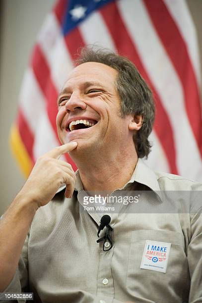 Mike Rowe of the television series 'Dirty Jobs' appears at an event to kick of American Equipment Manufacturers advocacy campaign 'I Make America'...