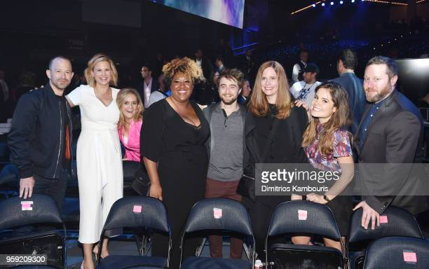 Mike Rubens Allana Harkin Samantha Bee Ashley Nicole Black Daniel Radcliffe Alison Camillo Amy Hoggart and Miles Kahn attend the Turner Upfront 2018...