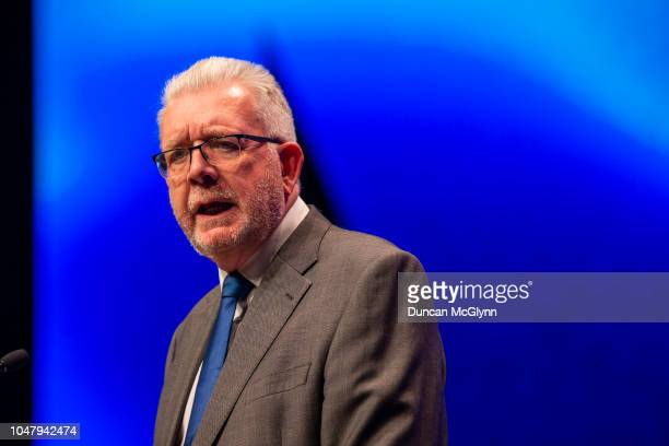 Mike Russell MSP Cabinet Secretary of Government Business and Constitutional Relations makes his keynote speech at the 84th annual SNP conference at...