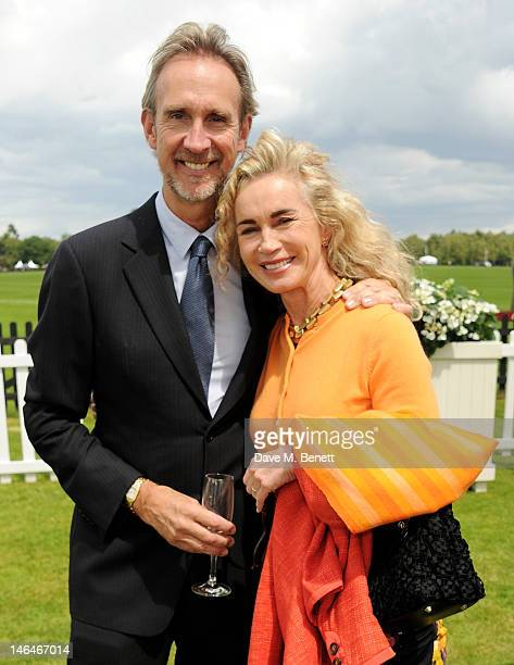 Mike Ruterford and Angie Rutherford attend the Cartier Queen's Cup Polo Day 2012 at Guards Polo Club on June 17 2012 in Egham England