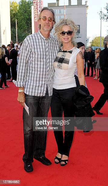 Mike Rutherford and Angie Rutherford arrive at the UK Premiere of 'George Harrison Living In The Material World' at BFI Southbank on October 2 2011...