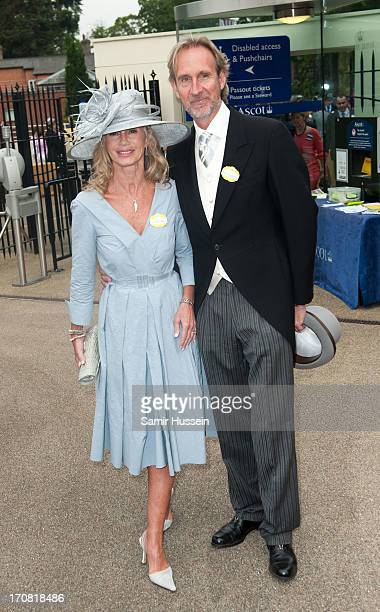 Mike Rutherford and Angie Rutherford attend day 1 of Royal Ascot at Ascot Racecourse on June 18 2013 in Ascot England