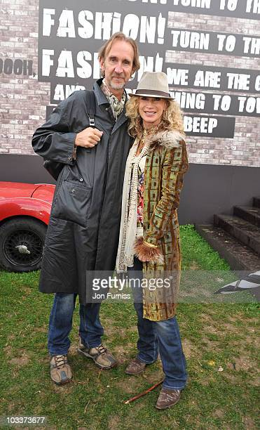 Mike Rutherford and Angie Rutherford attend day one of Vintage at Goodwood on August 13 2010 in Chichester England